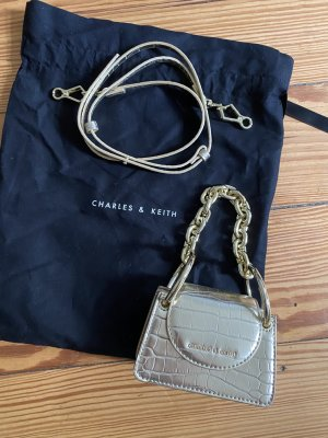 Charles & Keith Mini Bag Kette Gold