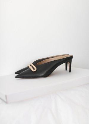 Charles & Keith Mules Pumps Schuhe schwarz Vintage 60er Jahre Look Gr. 38