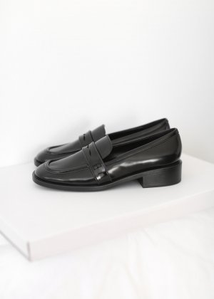 Charles & Keith Moccasins black synthetic material