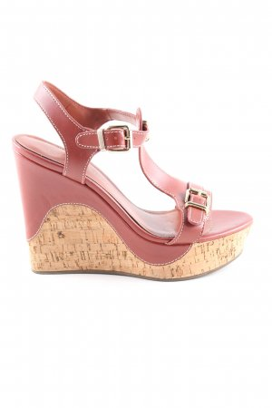 Charles & Keith Plateau-Sandaletten rot Casual-Look