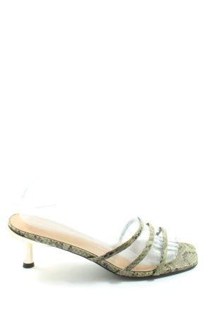 Charles & Keith Riemchen-Sandaletten khaki Animalmuster Elegant
