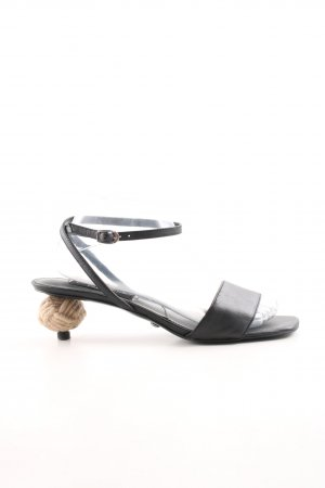 Charles & Keith Strapped High-Heeled Sandals black-beige extravagant style