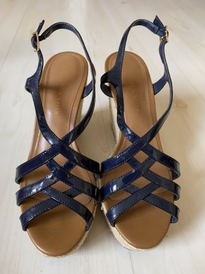Charles & Keith Wedge Sandals dark blue