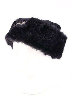Charles Muller Cappello in pelliccia nero stile stravagante