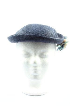 Charles Muller Bowler Hat blue weave pattern elegant