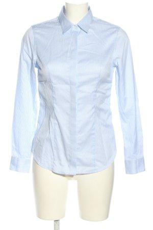 Charles Tyrwhitt Long Sleeve Blouse blue-white striped pattern business style
