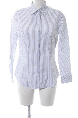 Charles Tyrwhitt Camicia a maniche lunghe bianco-blu motivo a righe