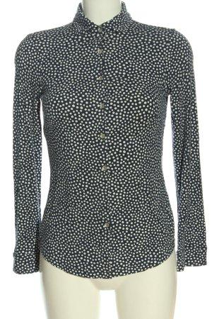 Charles Tyrwhitt Shirt Blouse black-white allover print business style