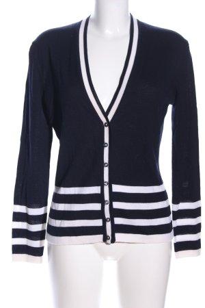 Charles Tyrwhitt Cardigan black-white striped pattern casual look