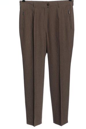 Charles Vögele Pantalone da abito marrone stile professionale