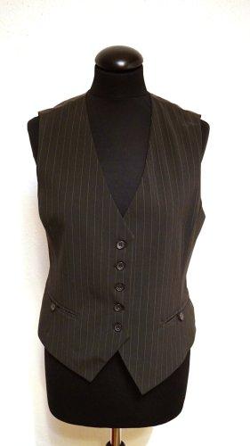 Charles Vögele Gilet de costume brun noir-brun foncé polyester