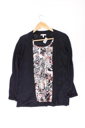 Charles Vögele Bluse mit angenähten Cardigan mehrfarbig Größe 40