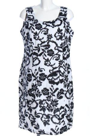 Charles Vögele Sheath Dress white-black flower pattern business style