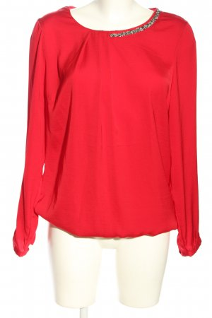 Charles Vögele Glanzbluse rot Casual-Look
