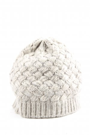 Charles Vögele Szydełkowana czapka jasnoszary W stylu casual