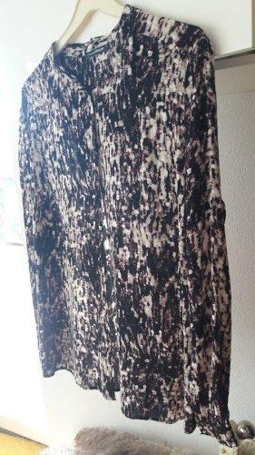 Charles Vögele Hemd Longbluse 100% Polyester Leicht Fein Gr.44