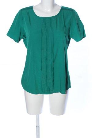 Charles Vögele Kurzarm-Bluse grün Business-Look