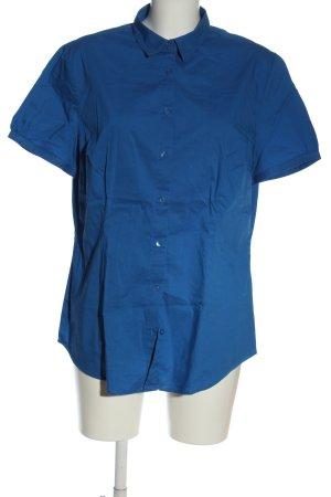 Charles Vögele Camisa de manga corta azul estilo «business»