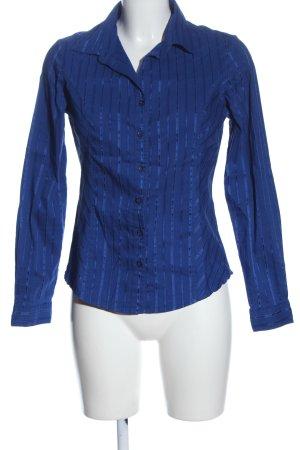 Charles Vögele Long Sleeve Shirt blue striped pattern casual look