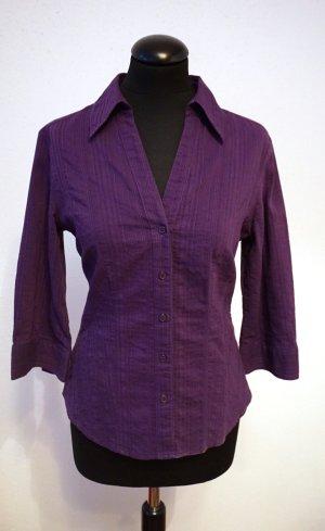 Charles Vögele Camicia a maniche lunghe viola scuro-lilla Cotone
