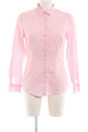Charles Vögele Langarmhemd pink Streifenmuster Business-Look