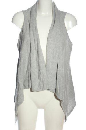 Charles Vögele Gilet long tricoté gris clair moucheté style décontracté