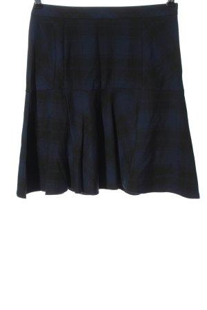 Charles Vögele Gonna a vita alta blu-nero motivo a quadri stile casual