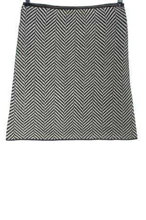 Charles Vögele Gonna lavorata a maglia nero-bianco stampa integrale