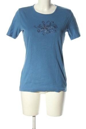 Charles Vögele Koszulka z nadrukiem niebieski Nadruk z motywem W stylu casual