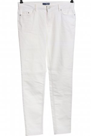 Charles Vögele Pantalone a sigaretta bianco stile casual