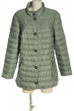Charles Vögele Quilted Jacket green quilting pattern casual look