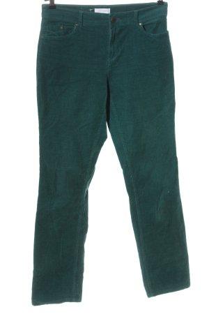Charles Vögele Corduroy Trousers turquoise casual look