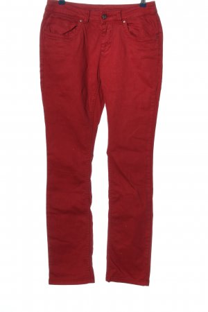 Charles Vögele Stretch Trousers red casual look