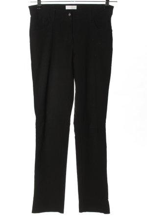 Charles Vögele Spodnie ze stretchu czarny W stylu biznesowym