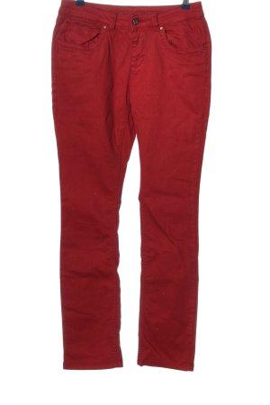 Charles Vögele Spodnie ze stretchu czerwony W stylu casual