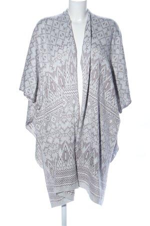Charles Vögele Poncho en tricot gris clair-noir style décontracté