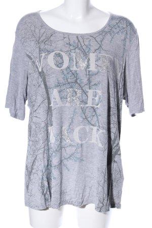 Charles Vögele T-Shirt hellgrau Motivdruck Casual-Look