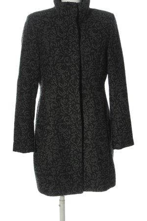 Charles Vögele Between-Seasons-Coat light grey-black allover print casual look