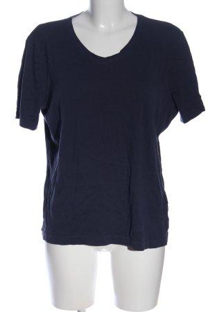 Charles Vögele V-Ausschnitt-Shirt schwarz Casual-Look
