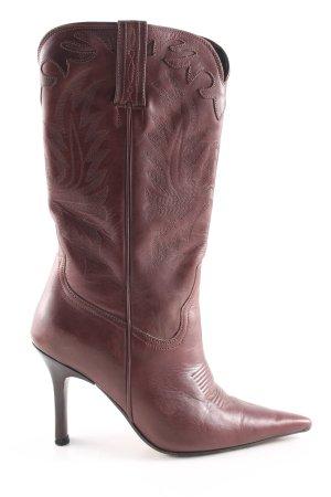 Boots western brun style décontracté