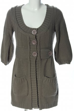 Charlise Cardigan khaki cable stitch casual look