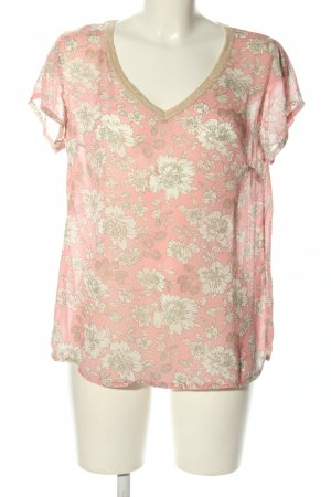 Charlise Short Sleeved Blouse pink-natural white allover print casual look