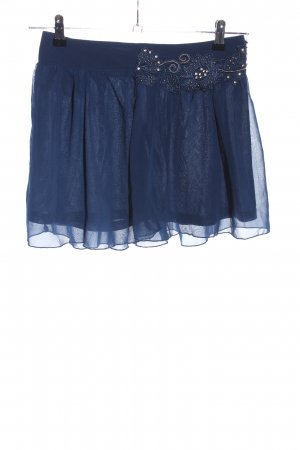 Charlise Minirock blau Glanz-Optik