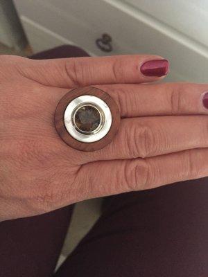 Charlotte Kopf Sterling Silber Brillenfassung ø12mm Rauchquarz