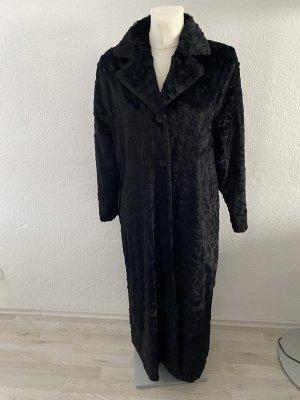 charlotte de paris Płaszcz ze sztucznym futrem czarny
