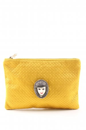 Charlotte Olympia Clutch blassgelb Steppmuster Casual-Look