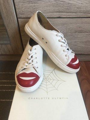 Charlotte Olympia Sneakers met veters wit-wolwit Leer
