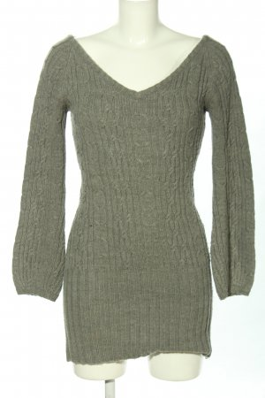 Charlotte ronson Long Sweater light grey flecked casual look