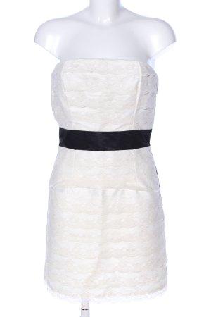 Charlotte Russe Bandeau Dress black-natural white elegant