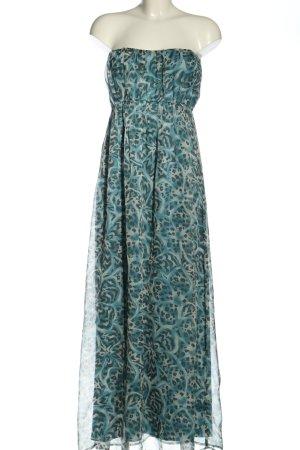Charlotte Russe Vestido bandeau azul-gris claro estampado con diseño abstracto